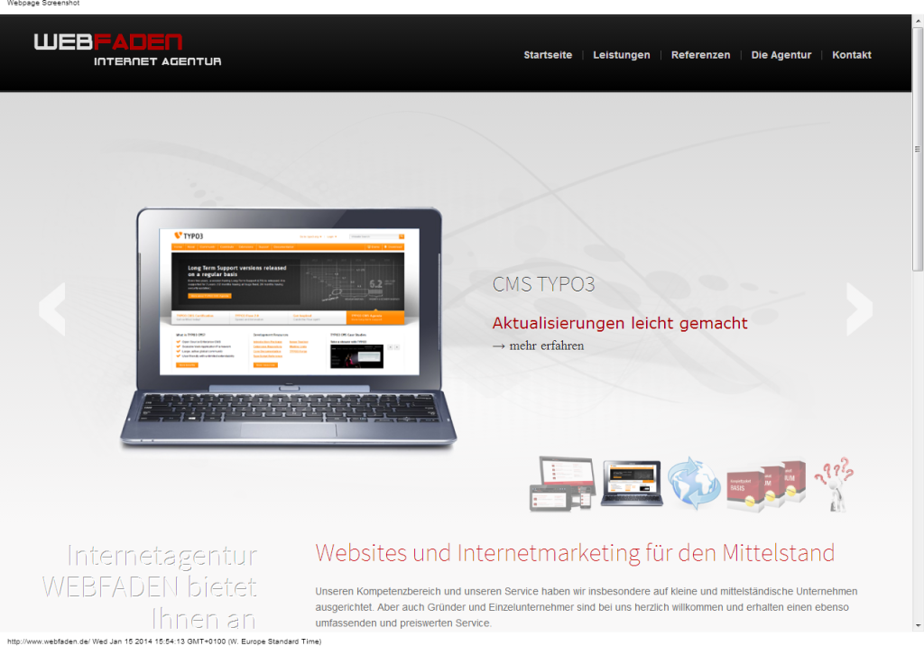 Web Agentur Internet Marketing TYPO3 - Freiburg - Internetagentur WEBFADEN